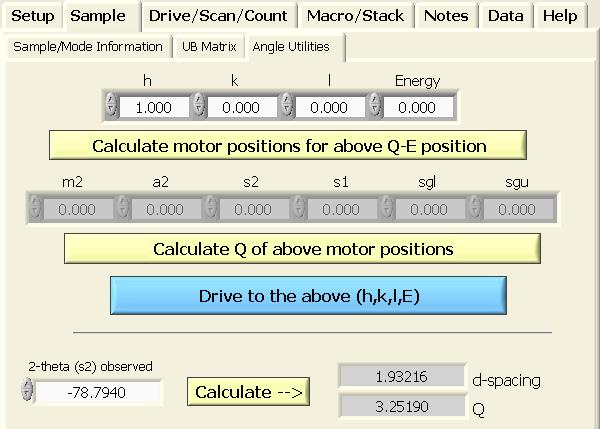 D spacing calculator
